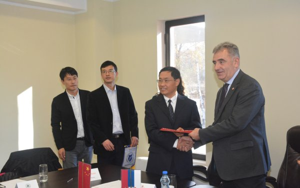 Chinese delegation visits Singidunum University -2